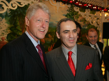 Bill Clinton and Gary Kasparov