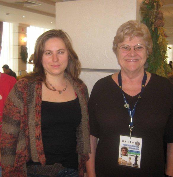 Judit Polgar and Elizabeth Shaughnessy