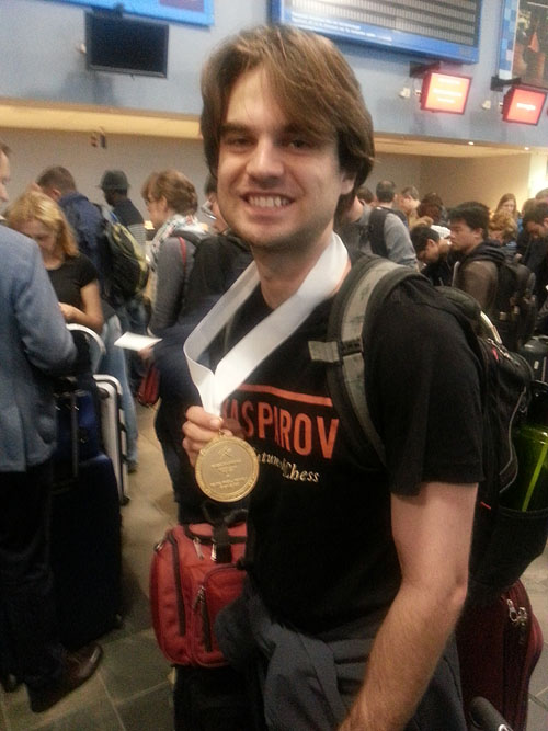 Sam Shankland and his 2014 Gold medal