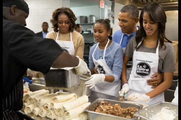The Obamas at DCCK