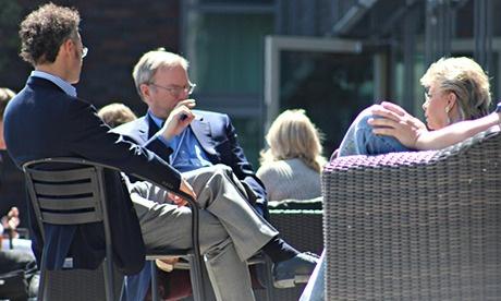 Karp, Schmidt, and Reding at Bilderberg