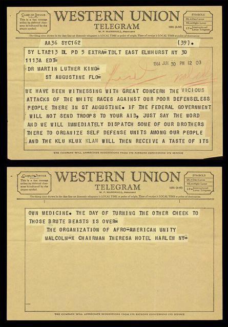 Telegram from Malcolm X