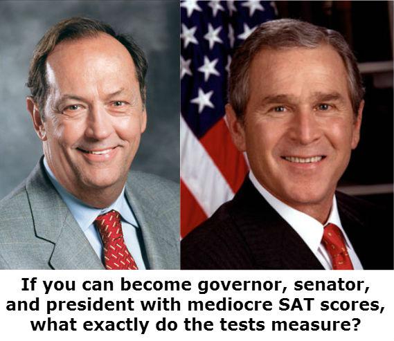 What SAT scores measure?
