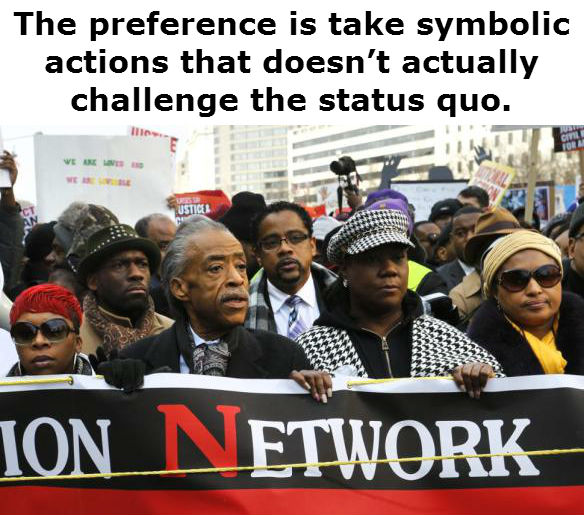 Al Sharpton at protest march