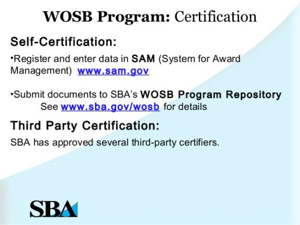 WOSB certification