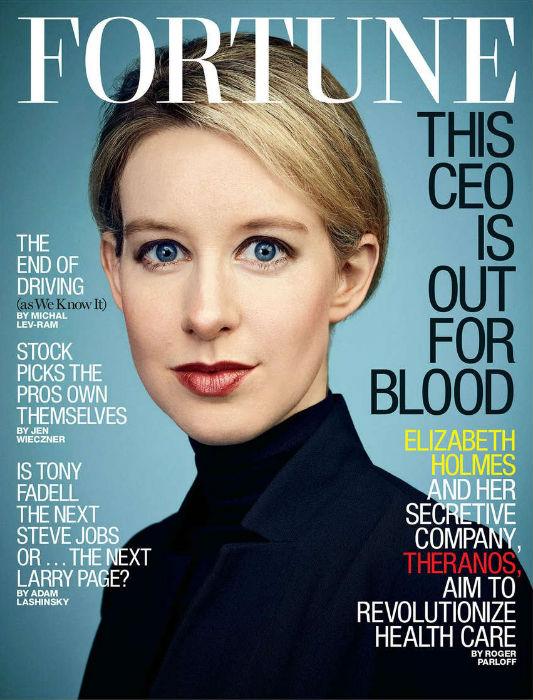 Elizabeth Holmes - Fortune cover