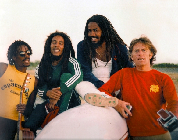 Bob Marley and Chris Blackwell