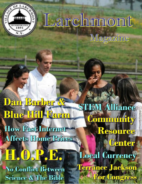 Larchmont Magazine - Dan Barber & Michelle Obama cover