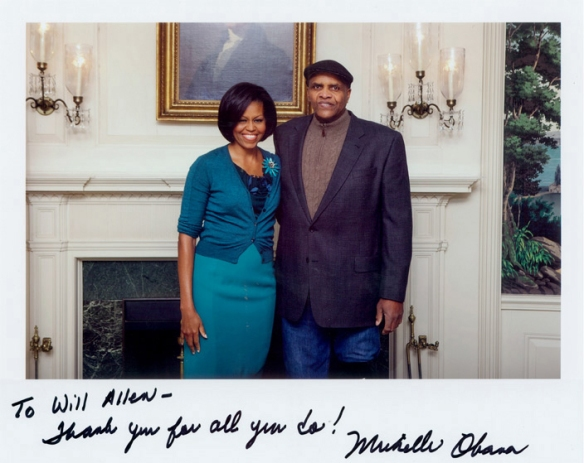 Will Allen and Michelle Obama