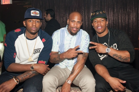 C. J. Miles, Courtney Greene, and Ray Rice.