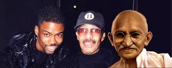 Chris Rock, Richard Pryor, and Mahatma Gandhi