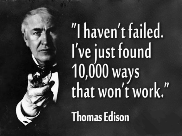 Thomas Edison on failure