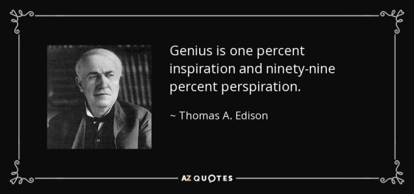 Genius is one percent inspiration