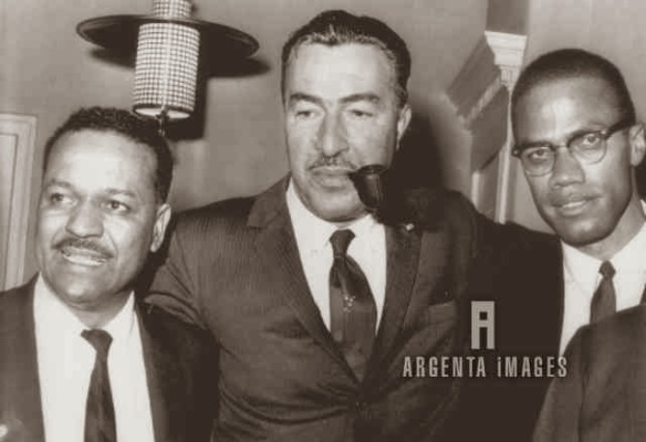Milton Galamiso, Adam Clayton Powell, and Malcolm X
