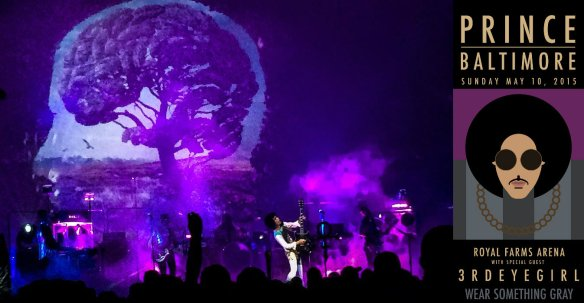 Prince performing in Baltimore