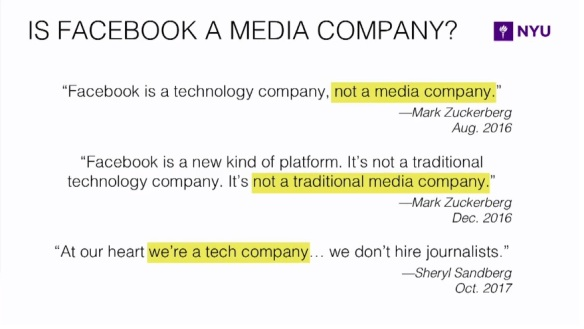 Facebook is a media company