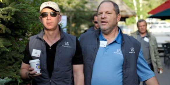 Jeff Bezos and Harvey Weinstein