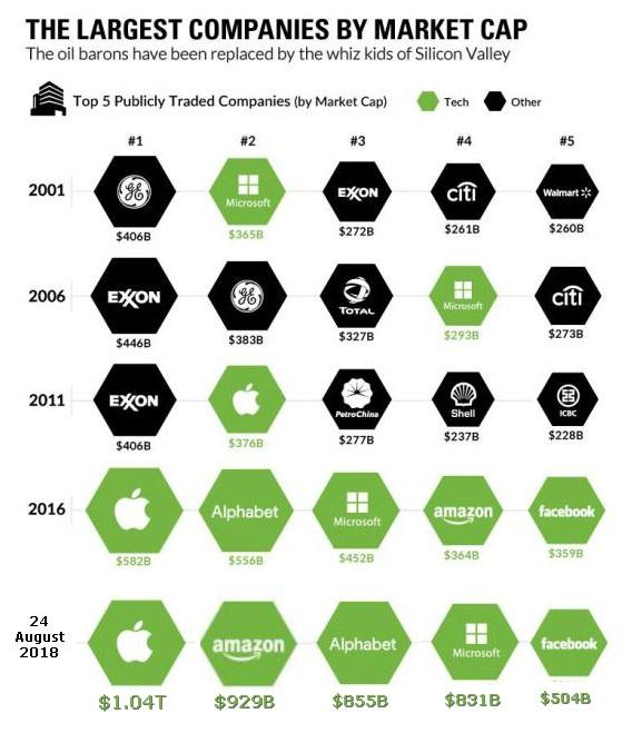 Largest companies by market cap
