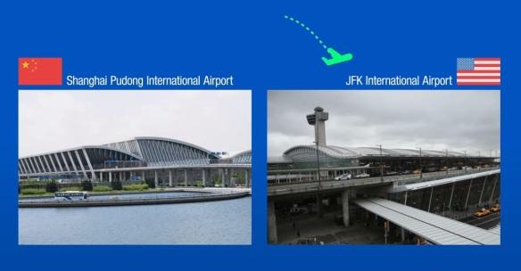 JFK airport vs Shanghai